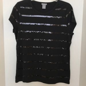 ANN TAYLOR Sequined Top Sz L